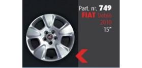 """Borchia copri ruota per FIAT Doblò 2010 misura 15""""  Copricerchi Copriruota"""