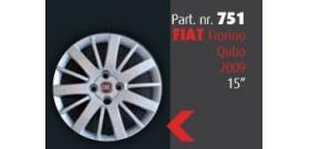 """Borchia copri ruota per FIAT Fiorino Qubo 2009 misura 15""""  Copricerchi Copriruota"""