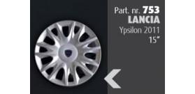 """Borchia copri ruota per LANCIA Ypsilon 2011 misura 15""""  Copricerchi Copriruota"""