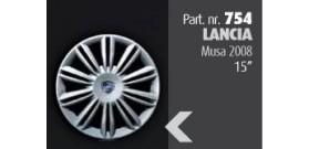 """Borchia copri ruota per LANCIA Musa 2008 misura 15""""  Copricerchi Copriruota"""