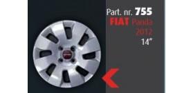 """Borchia copri ruota per FIAT Panda 2012 misura 14""""  Copricerchi Copriruota"""