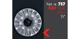 """Borchia copri ruota per FIAT 500L 2012 -> misura 15""""  Copricerchi Copriruota"""