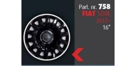 """Borchia copri ruota per FIAT 500L 2012 -> misura 16""""  Copricerchi Copriruota"""