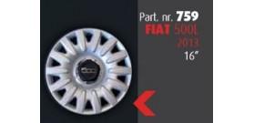 """Borchia copri ruota per FIAT 500L 2013 -> misura 16""""  Copricerchi Copriruota"""