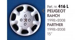 """Borchia copri ruota per PEUGEOT RANCH-PARTNER misura 14"""""""
