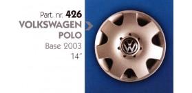 Borchia copri ruota per VOLKSWAGEN POLO misura 14&#34