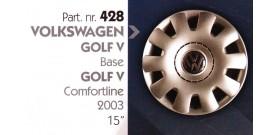 Borchia copri ruota per VOLKSWAGEN GOLF V misura 15&#34