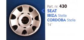 Borchia copri ruota per SEAT IBIZA-CORDOBA misura 14&#34