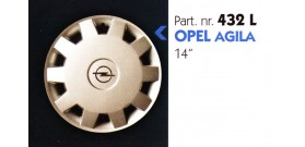Borchia copri ruota per OPEL AGILA misura 14&#34