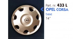 Borchia copri ruota per OPEL CORSA misura 14&#34