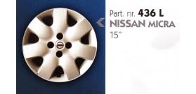 """Borchia copri ruota per NISSAN MICRA misura 15"""""""