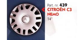 """Borchia copri ruota per CITROEN C3-NEMO misura 14"""" Copricerchi Copriruota"""