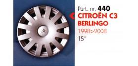 """Borchia copri ruota per CITROEN C3-BERLINGO misura 15"""" Copricerchi Copriruota"""