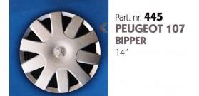 Borchia copri ruota per PEUGEOT 107-BIPPER misura 14&#34