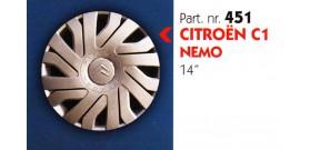 """Borchia copri ruota per CITROEN C1-NEMO misura 14"""" Copricerchi Copriruota"""