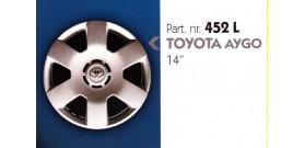 Borchia copri ruota per TOYOTA AYGO misura 14&#34