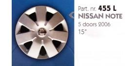 Borchia copri ruota per NISSAN NOTE misura 15&#34