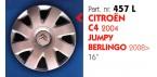 """Borchia copri ruota per CITROEN C4-JUMPY-BERLINGO misura 16"""" Copricerchi Copriruota"""