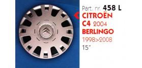 """Borchia copri ruota per CITROEN C4-BERLINGO misura 15"""" Copricerchi Copriruota"""