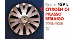 """Borchia copri ruota per CITROEN PICASSO-BERLINGO misura 15"""" Copricerchi Copriruota"""