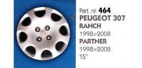 """Borchia copri ruota per PEUGEOT 307-RANCH-PARTNER misura 15"""""""