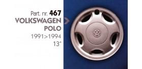Borchia copri ruota per VOLKSWAGEN POLO misura 13&#34