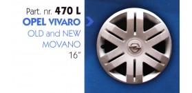 Borchia copri ruota per OPEL VIVARO-MOVANO misura 16&#34