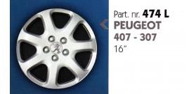 Borchia copri ruota per PEUGEOT 407-307 misura 16&#34