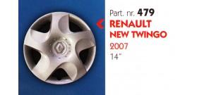 Borchia copri ruota per RENAULT NEW TWINGO misura 14&#34