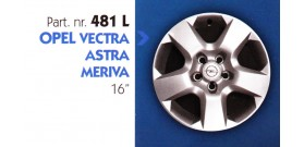 Borchia copri ruota per OPEL VECTRA-ASTRA-MERIVA misura 16&#34