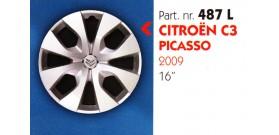 """Borchia copri ruota per CITROEN C3-PICASSO misura 16"""" Copricerchi Copriruota"""