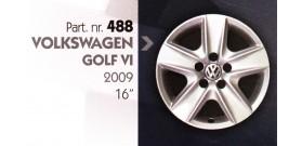 """Borchia copri ruota per VOLKSWAGEN GOLF VI misura 16"""""""