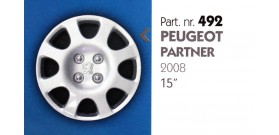 Borchia copri ruota per PEUGEOT PARTNER misura 15&#34
