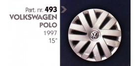 """Borchia copri ruota per VOLKSWAGEN POLO misura 15"""""""