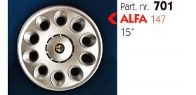 """Borchia copri ruota per ALFA 147 misura 15"""" Copricerchi Copriruota"""