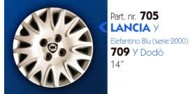 Borchia copri ruota per LANCIA Y misura 14&#34