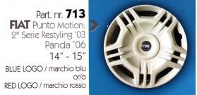 """Borchia copri ruota per FIAT PUNTO misura 14-15"""""""