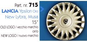 """Borchia copri ruota per LANCIA YPSILON misura 15"""""""
