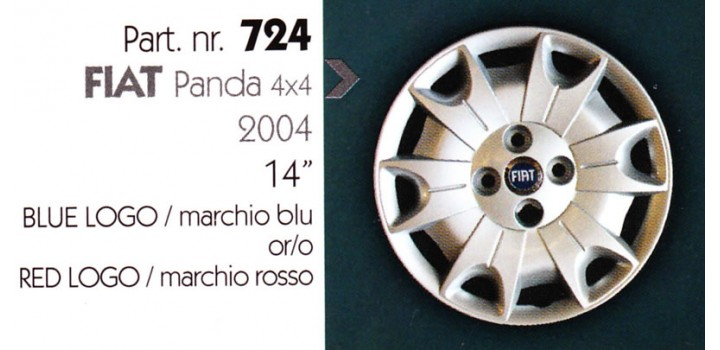 """Borchia copri ruota per FIAT PANDA 4X4 misura 14"""""""