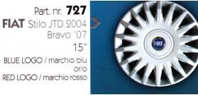 Borchia copri ruota per FIAT STILO/BRAVO misura 15&#34