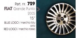 Borchia copri ruota per FIAT GRANDE PUNTO misura 15&#34