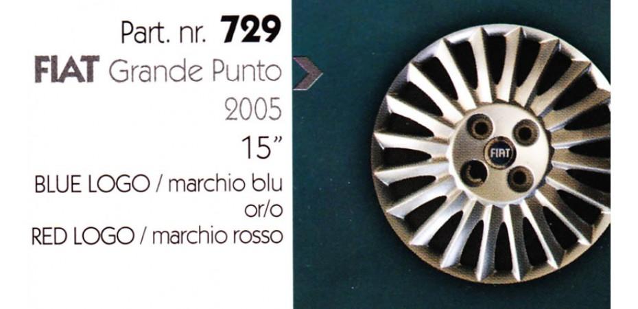 Borchia copri ruota per FIAT GRANDE PUNTO misura 15