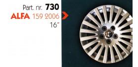 """Borchia copri ruota per ALFA 159 misura 16"""" Copricerchi Copriruota"""
