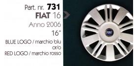 """Borchia copri ruota per FIAT 16 misura 16"""" Copricerchi Copriruota"""