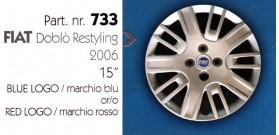 """Borchia copri ruota per FIAT DOBLO' misura 15"""""""