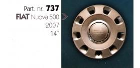"""Borchia copri ruota per FIAT 500 misura 14"""" Copricerchi Copriruota"""