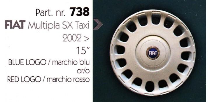 """Borchia copri ruota per FIAT MULTIPLA misura 15"""""""