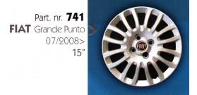 """Borchia copri ruota per FIAT GRANDE PUNTO misura 15"""""""