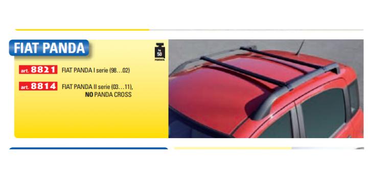 Barre portatutto specifiche FIAT PANDA 1998-2003
